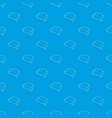 sofa pattern seamless blue vector image