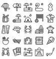 summer vacation related icon set 2 line style vector image vector image