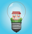 the house is in a lamp vector image