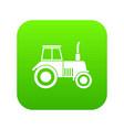 tractor icon digital green vector image
