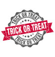 trick or treat stamp sign seal vector image vector image