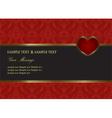 Valentine Invitation card vector image vector image