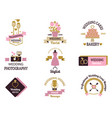 wedding photo or event agency logo badge vector image vector image