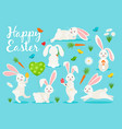 eastern bunny banner design vector image
