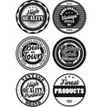 black and white vintage labels collection 6 vector image
