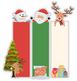 christmas banner template with tree and santa vector image