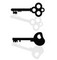 keys black vector image