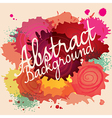 abstract paint splat colorful background vector image