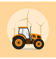 tractor vector image