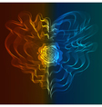 abstract fire and ice heart vector image vector image