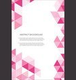 abstract geometric design background template 3 vector image