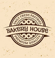 bakery house vintage round emblem vector image vector image