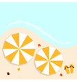 Beach summer background with umbrellas vector image vector image
