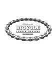 bicycle chain in form a circle 3d design vector image vector image