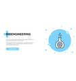 bioengineering line icon simple icon banner vector image