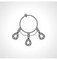 Black icon for bracelet vector image