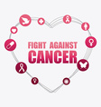 Breast cancer design vector image vector image