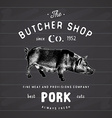 Butcher Shop vintage emblem pork meat products vector image