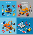 car service concept icona set vector image