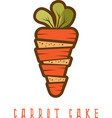 carrot cake concept isolated on white vector image