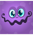 cartoon monster face avatar vector image vector image