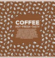 coffee house beans sketch pattern frame cafe or vector image