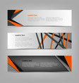 collection banners with abstract triangles and vector image vector image