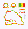Colors of Senegal vector image