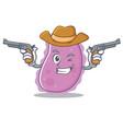 cowboy bacteria character cartoon style vector image vector image