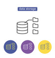 data storage with files vector image