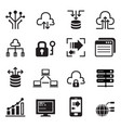 data technology icons set vector image vector image