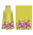 design dress with tropical flowers vector image vector image