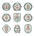 diving school shop club vintage logo set vector image vector image