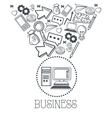 Doodle icon design business icon draw concept