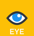 eye icon sign vector image vector image