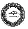 figure emblem taxi side car icon vector image vector image