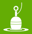 floating bobber icon green vector image vector image