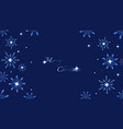 full hd blue shine snowflakes and stars elements vector image vector image