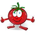 fun tomato cartoon vector image vector image