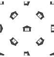 garage pattern seamless black vector image vector image