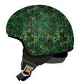 Green military helmet vector image vector image