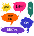hand drawn set colorful speech bubbles with vector image