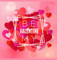 happy valentines day and wedding design elements vector image vector image