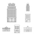 isolated object of architecture and exterior logo vector image