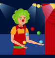 juggling harlequin flat color vector image