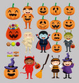 kids dressed up as group characters vector image