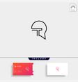 letter t chat bubble logo template design vector image vector image