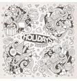 line art set holidays doodle designs vector image vector image