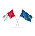 malta and european union waving flags vector image