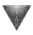 maori style koru tattoo vector image vector image